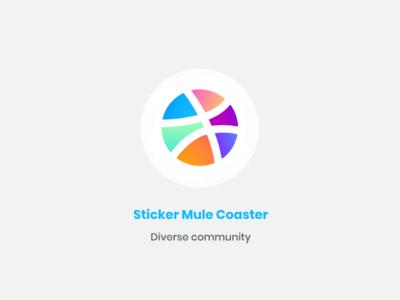 "Sticker Mule Coasters: ""Diverse community"" dribbble sticker mule diverse linear design hexa"