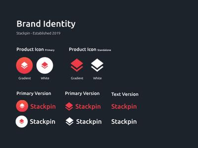 Stackpin- Brand Identity typography identity branding stackpin hexa