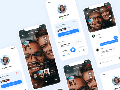 Zoom Video Call Redesign Challenge figma template ui design ui product mobile concept redesign call video zoom uplabs