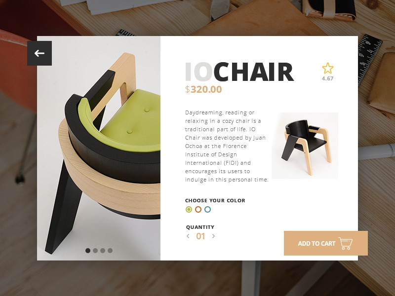 Day 002 - Product Card chair card product web ui design days 100