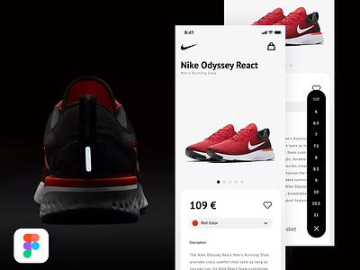 Day 17 - Product to cart (Figma) prototype figma cart nike user ux mobile flat clean interface app minimal web ui design