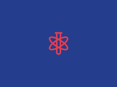 Bayside Laboratories laboratory test tube science logo branding