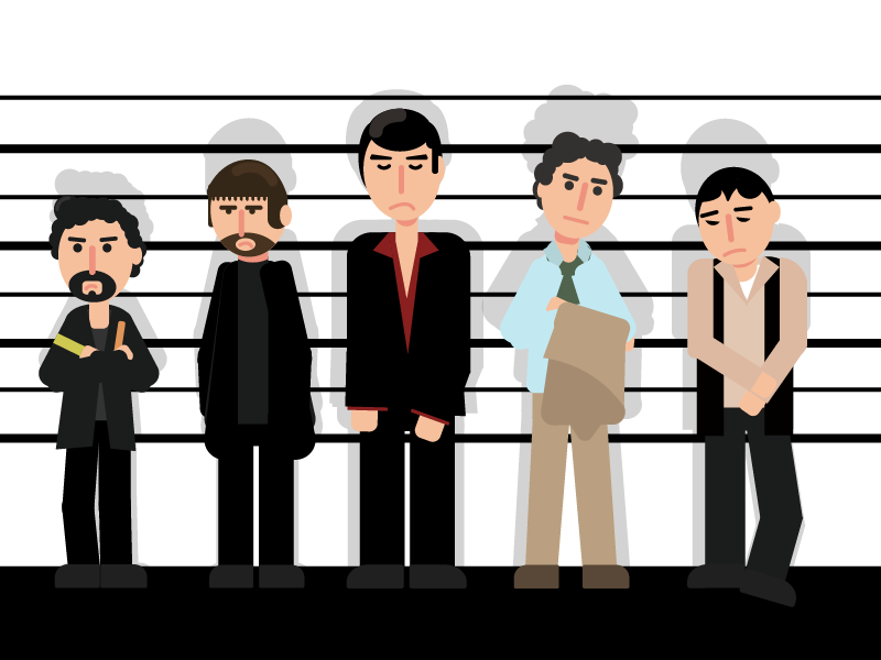 The Usual Suspects - Poster illustrations movie poster usual suspects