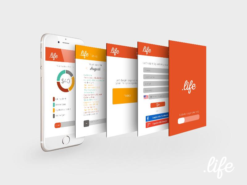 UI Design for .life graphic design app design ui ui design