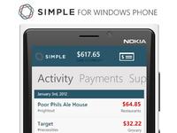 Simple - Windows Phone ( Fan Design )