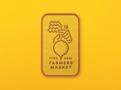 Farmers' Market Logo - Four Season Patch vegetable hand beet farm farmers market design mark logo branding