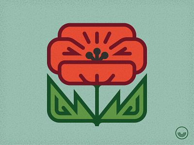 We Remember logo icon veterans day remembrance flower poppy