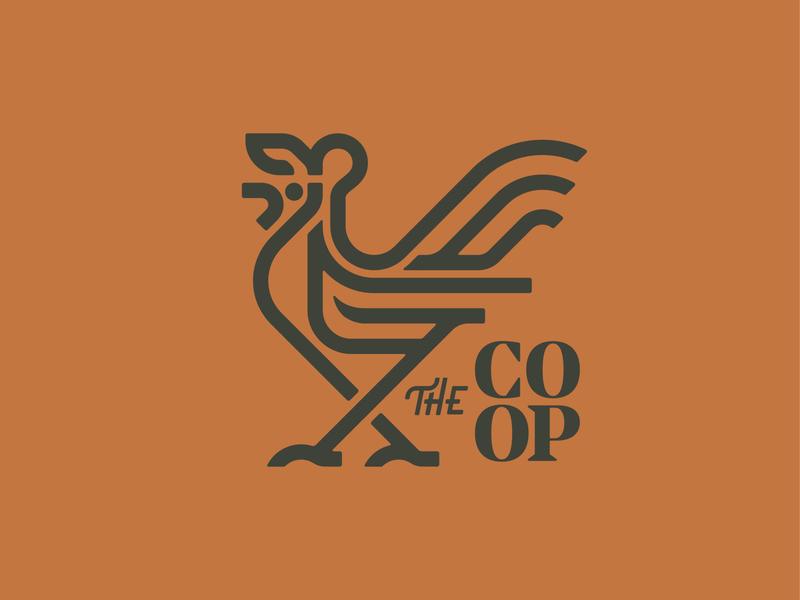 The Coop - Logo & Branding coop farm rooster chicken design mark icon branding logos logo