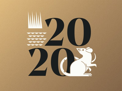 2020 Year Of The Rat chinese new year year of the rat vector art logo rat illustration iconography icon animal 2020