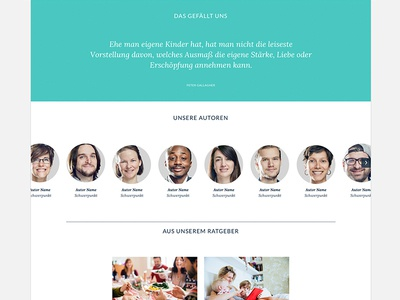 New Interface Design for a family magazine