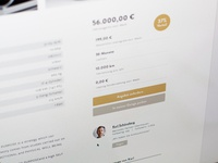 Detail view of our new marketplace project