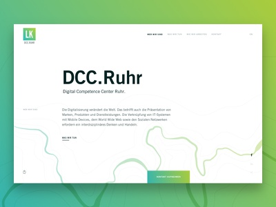 Onpager DCC Ruhr minimal clean agency ui design web onepage