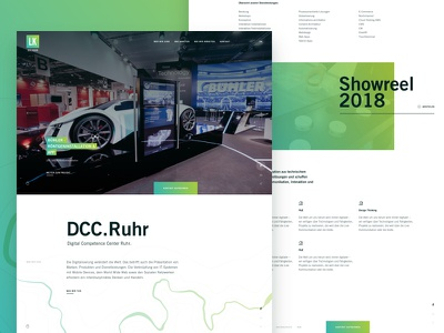 DCC Ruhr whole Onepage minimal clean agency ui design web onepage