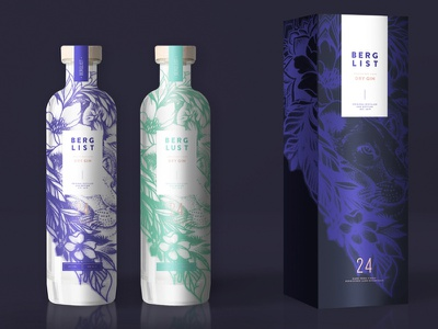 Gin Packaging & Branding Concept illustration concept tattoo art tattoo sleeve bottle product design packagedesign packaging branding brand gin