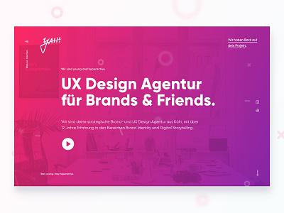 yah! Relaunch 2019 homepage landing germany ux ui web design design web website agency relaunch