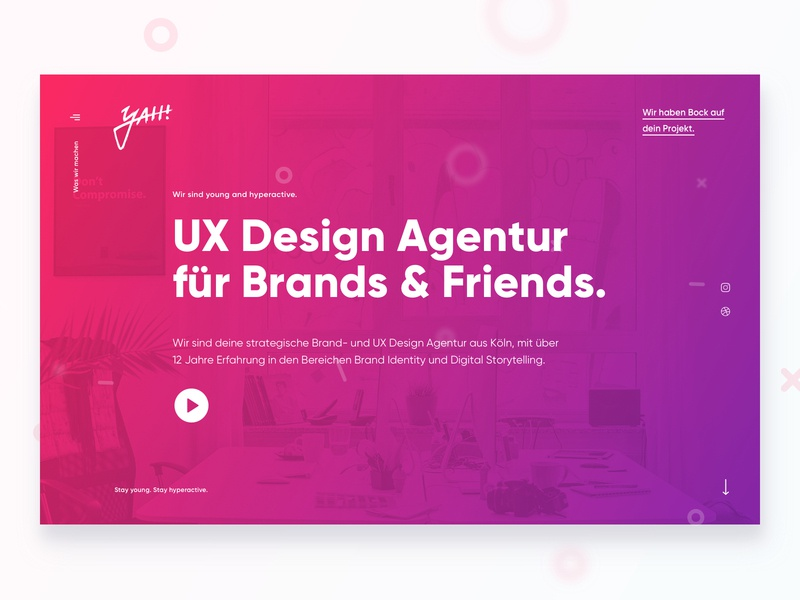 yah! Relaunch 2019 homepage landing germany ux ui web design design web website agency relaunch