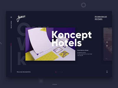 yah! Relaunch 2019 slider portfolio landing germany ux ui web design design web website agency relaunch