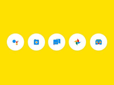Google Icons Concept ui madebygoogle googleassistant concept nav icons google