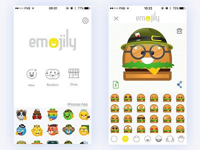 Emojily emoji app emojily emojis emoji mobile assets app ui