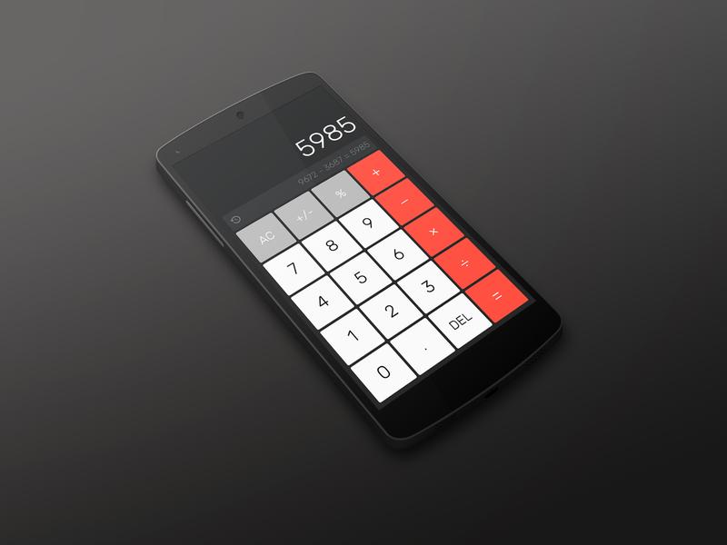 Daily Ui 004 | Calculator flat figma app 004 challenge interface red dark calculator daily ui dailyui ux ui design