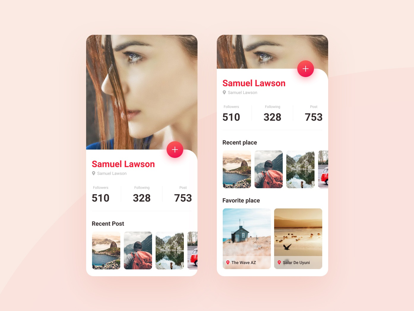 Daly Ui 006 | Profile location address travel ux ui mobile app design app application clean profile 006 daily ui figma