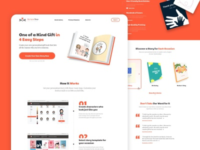 UI/UX for Website and Web App pwa flow characters friendship love landing page ux design uidesign handmade gifts education books
