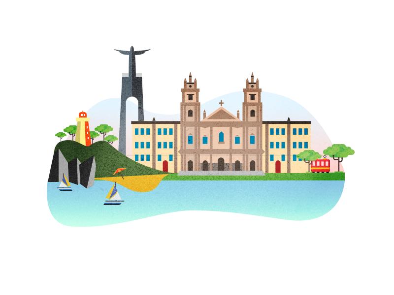 Portugal Illustration illustration art vector portugal landmarks city architecture