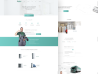 One-page website design for VAILLANT