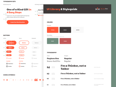 UI Library & Styleguide ux design ui design user interface uiux fonts h1 typography icons forms consistency uikit uielements uistyleguide colorscheme buttons