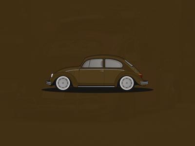 VW Kaefer (Beetle) illustration