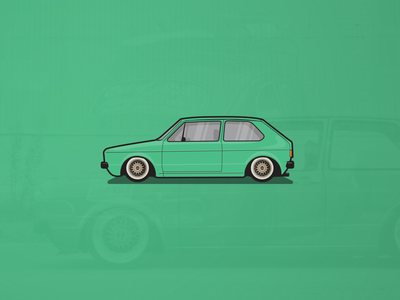 Volkswagen Golf Mk1 Illustration
