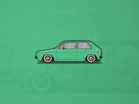 Volkswagen Golf Mk1 Illustration