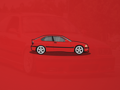 BMW E36 Compact Illustration
