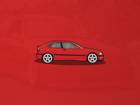 BMW E36 Compact Illustration
