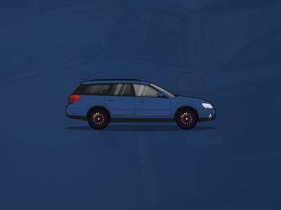 Subaru Outback Illustration