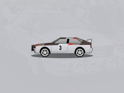 Audi Quattro A2 Rallye Illustration