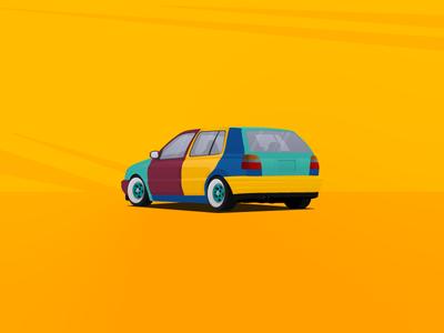 VW Golf MK3 Harlequin