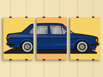 Volkswagen Jetta MK1 Poster