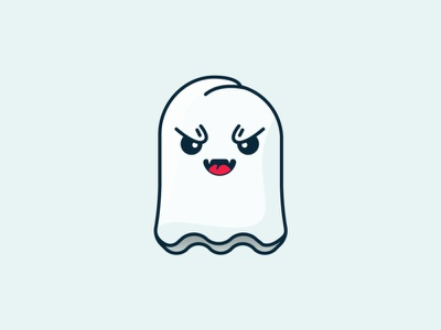 Halloween Is Coming! portfolio simple shot character animation 2d character art flat illustration halloween design ghost party cute fun eyes blue and white blue vector flat ghostbusters ghost halloween