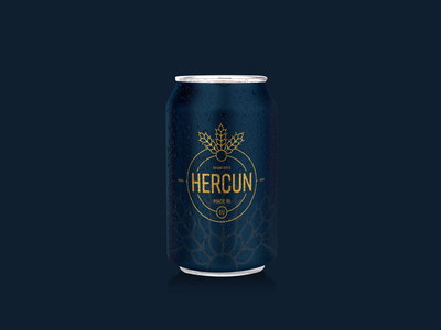 Hercun Beer logo informal identity brand identity branding design branding and identity can food and drink drink foodie food beer branding beer label beer can beer design 2d logo branding vector flat