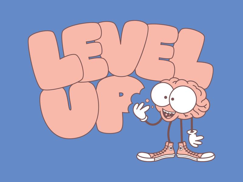 Level Up 2020 Logo digital illustration branding digital logo design vector illustrator logo illustration cartoon illustration level up brain cartoon cartoons