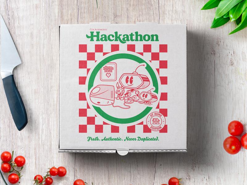 Dealer.com/Cox Automotive Hackathon Design hackathon digital illustration branding cartoon digital logo design vector typography illustration logo