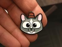 Sammy Cat in a Hat Enamel Lapel Pins