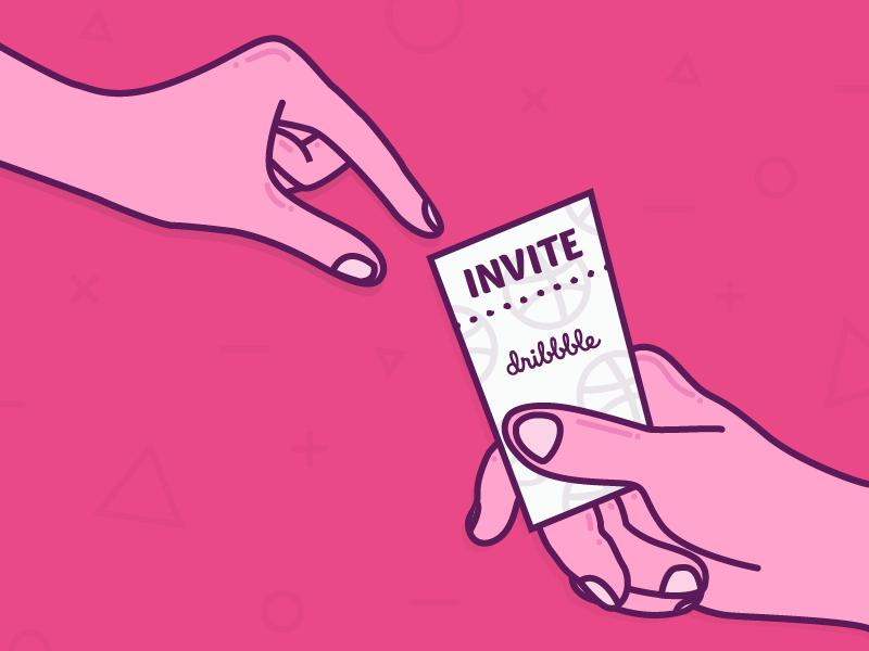 Hi Dribbble! illustrator dribbble invite ticket illustration welcome hi