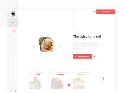 Sushi website idea webdesign sketch ui ux food design website sushi