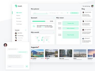Travelr dashboard design vacation travel design sketch ux ui dashboard travel platform