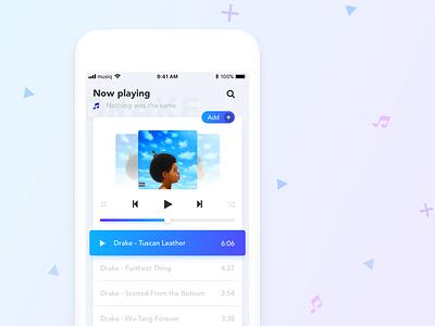Music app concept music app play drake sketch ux ui ios concept design app music