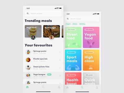 Food recipes app 🍲 meals app concept app design iphone xs recipes food recipe app food app