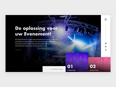 Light and sound rental website 🕺 web sketch ui ux  ui festival header webdesign website rental party