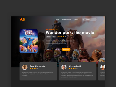 VUE Cinema detail page ux review dark sketch design ui website web movie cinema